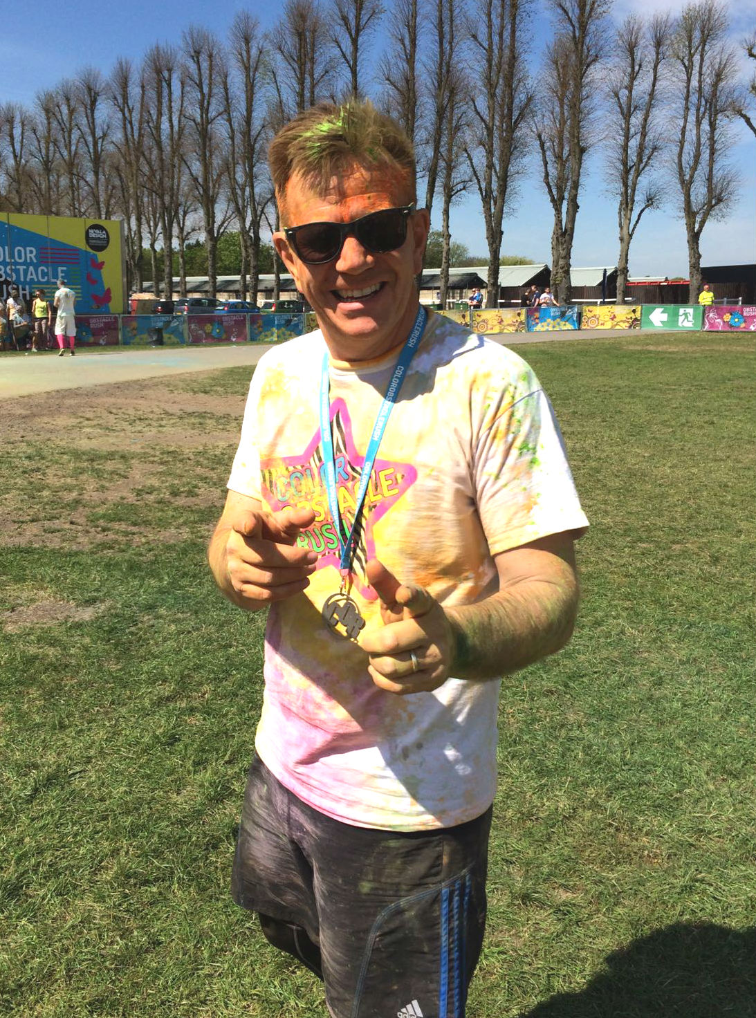Arran Atkinson takes part in Color Obstacle Rush 5k