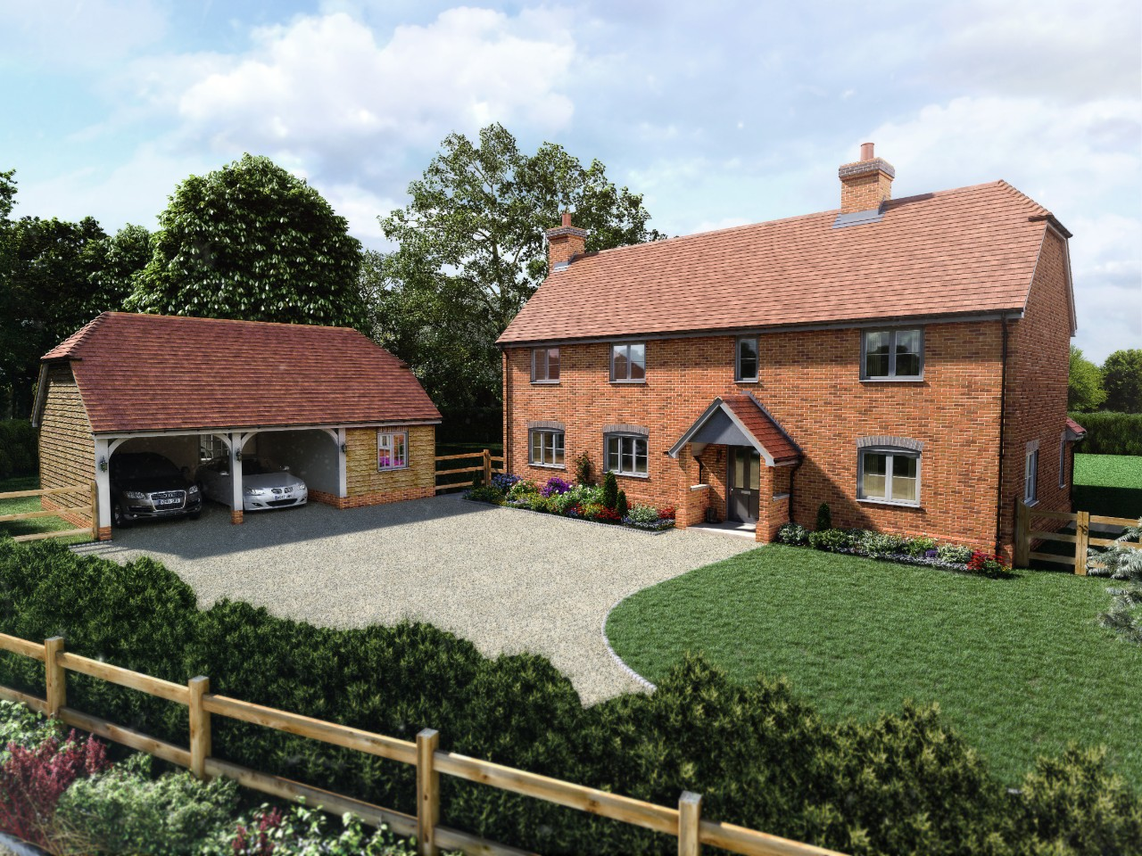 Family homes in a picturesque village of Herriard
